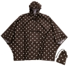 Travel/holiday waterproof poncho in mocha