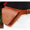 Leather hip shaker moneybelt