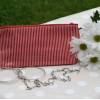 Gisela Graham red stripe pencil case/ make-up bag