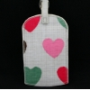 Gisela Graham Heart Brushstroke Luggage Tag
