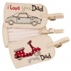 Gisela Graham Great Dad Luggage Tag