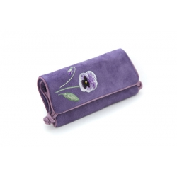Luxury jewellry roll by Seek Unique - lilac viola