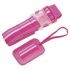 Lug Life Luggage Belt & Tag set - stripey rose pink