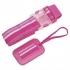 Lug Life Luggage Belt & Tag set - stripey rose pink