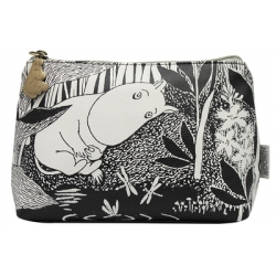 Moomintroll The Dreaming black and white make-up purse