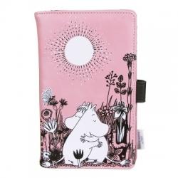 Moomins pink Love travel document wallet