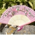 Silk and wood folding Chinese painted fan