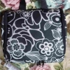 Hanging travel washbag fleur black by Reisenthel CL0130