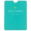 Happy Jackson Hello World turquoise passport cover