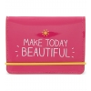 Happy Jackson pink Make Today Beautiful travel card wallet