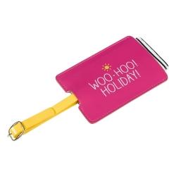 Happy Jackson pink Woo-hoo luggage tag