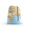 Kikkerland world map drawstring laundry bag