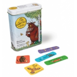 The Gruffalo travel plasters in a tin