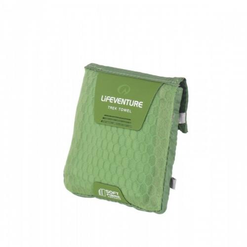 Lifeventure Soft Fibre Pocket Travel Towel - Green