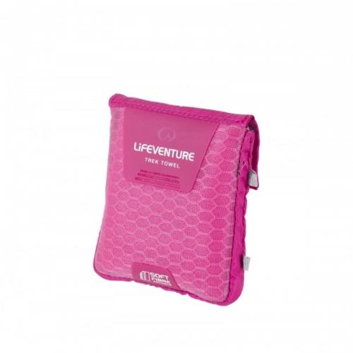 Lifeventure Soft Fibre Pocket Travel Towel - Pink