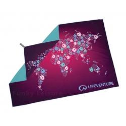 Lifeventure Soft Fibre Trek Towel – World Map Flowers