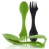 Light My Fire Sporks and Case - black and green