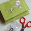 Blossom mini sewing purse with scissors