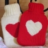 Mini travel heart hot water bottle