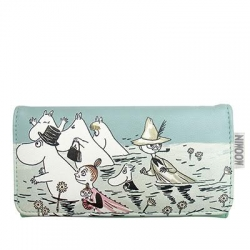 Moomin River duck egg blue ladies' wallet/purse