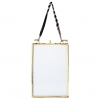 "Nkuku Kiko Hanging Picture Frame - brass portrait small 6 x 4""*"