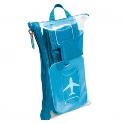 Lug Life Luggage Belt & Tag set - ocean teal spots