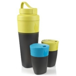 Light My Fire pack up drink kit for two people - cyan blue and lime green