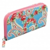 Paisley park rose oilcloth zipped holiday purse/wallet