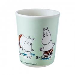 Moomin Melamine pale green drinking beaker - Moomintroll and Friends