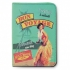 Natives French 1950s vintage retro Vahine hula girl holiday passport cover