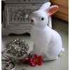 White woodland rabbit battery night light
