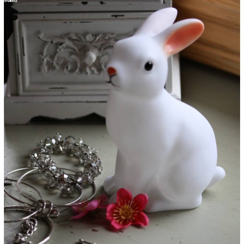 Woodland Bunny Rabbit Led Night Light Battery Included