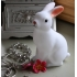 White woodland rabbit battery night light