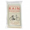 Emergency cycling/festival disposable pocket poncho - clear