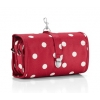 Reisenthel wrap cosmetic hanging wash bag L ruby dots