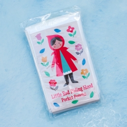 Emergency childrens Red Riding Hood festival disposable pocket poncho - clear