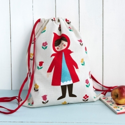 Little Red Riding Hood cotton drawstring bag