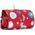 Reisenthel wrap cosmetic hanging wash bag L ruby funky dots