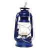 Vintage style scout large storm lantern - blue, LED, battery operated