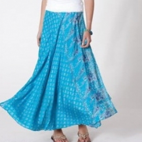 Wraparound Silk Skirt 81