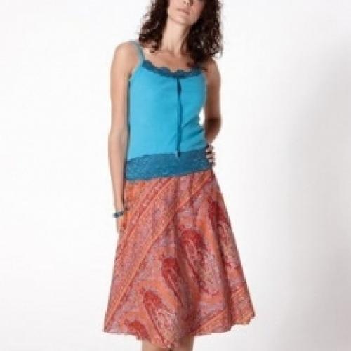 Wraparound Silk Skirt 70