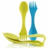 Light My Fire Sporks and Case - cyan blue and lime green