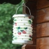 Gisela Graham daisy and strawberry fabric accordion lantern