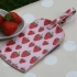 Gisela Graham strawberry patch luggage tag