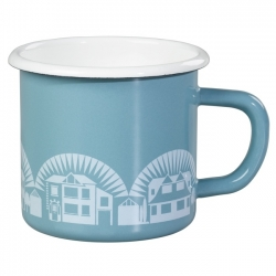Lido Duck Egg Blue Enamel Mug - Mini Moderns Scandinavian Collection by Wild & Wolf