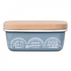 Lido Duck Egg Blue Butter Dish - Mini Moderns Scandinavian Collection by Wild & Wolf