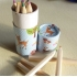 Colouring pencil tube - woodland