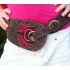 Hip hugger travel belt by Josyflo - pink