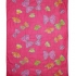 Pink fair-trade cotton butterfly sarong