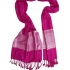 Pink pashmina with silver design